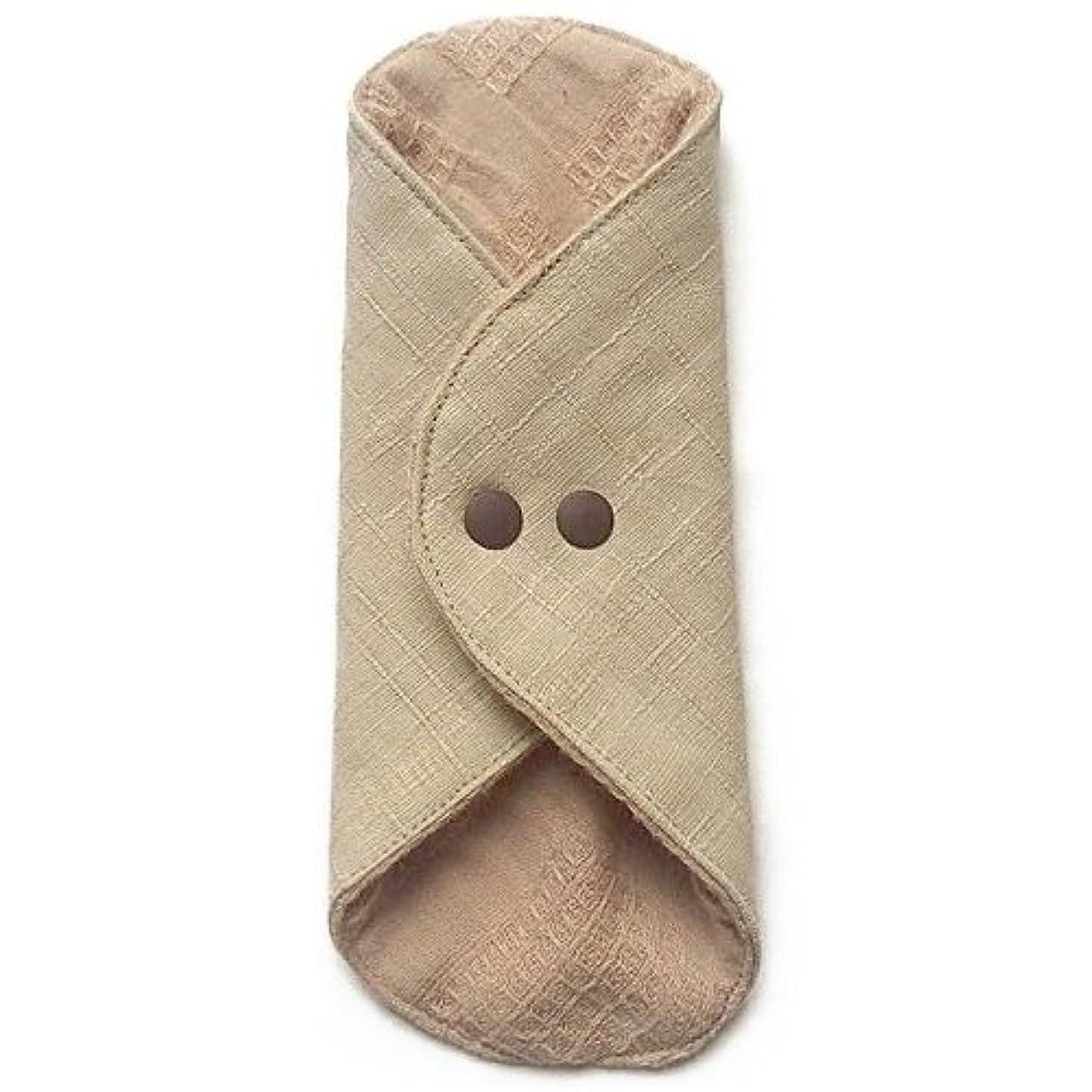 振るひそかに好奇心盛華布のオーガニックコットンのあたため布 Mサイズ(約15×約15cm) 彩り(百合)