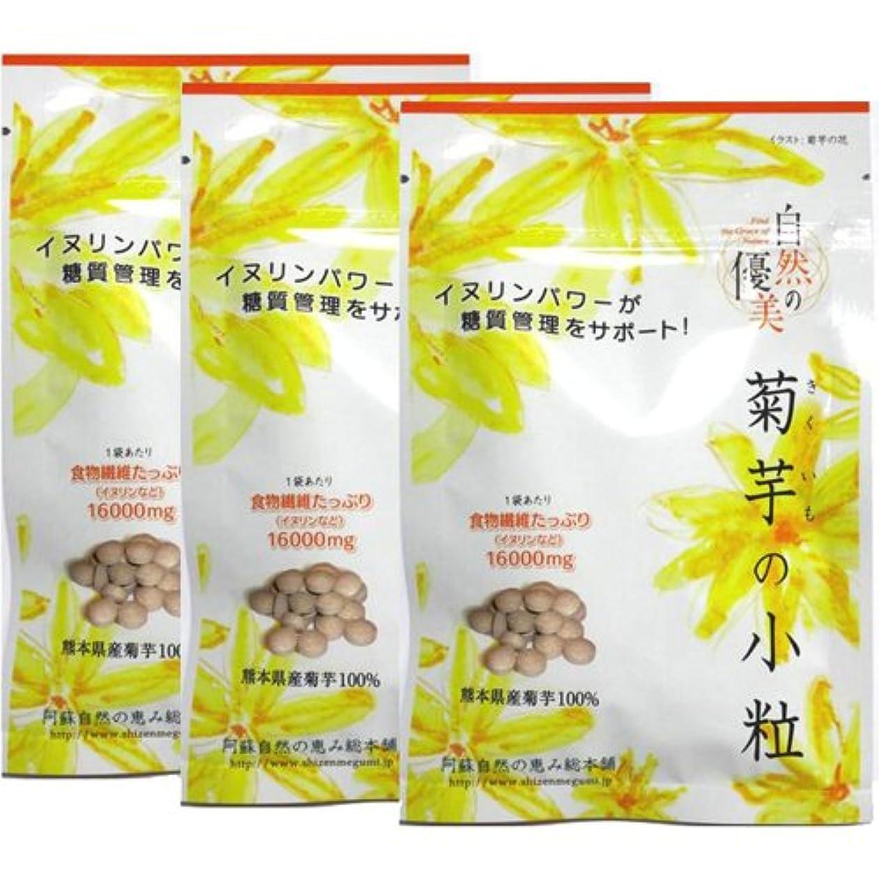 同情的故意に折る阿蘇自然の恵み総本舗 菊芋の小粒 100錠×3袋
