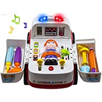 Wishtime ミニドクターセット お医者さんごっこ ギミック豊富 救急車 よくばり おもちゃ 三歳から 知育シリーズ