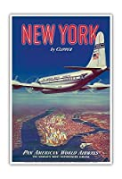 - ビンテージな航空会社のポスター c.1950 - アートポスター - 33cm x 48cm