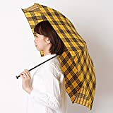 マッキントッシュ フィロソフィー(MACKINTOSH PHILOSOPHY) 【軽量約115g!・チェック柄】ユニセックス折りたたみ傘(バーブレラ Barbrella(R))【イエロー/55】