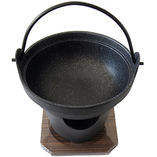 パール金属 いろり鍋 16cm 木蓋 コンロ付 セット ストロングマーブル 懐石 H-5361