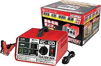 メルテック バッテリー充電器(農耕・船舶・獣よけ・電源用BT) DC12/24V対応 開放型バッテリー用 定格12A セルブースト・タイマー機能付 長期保証3年 Meltec RC-100