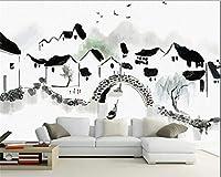 Weaeo 江南水村の手の水の壁紙背景の3D壁紙任意のサイズをカスタマイズする3D写真の壁紙-120X100Cm