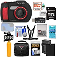 Sealife dc2000HD水中デジタルカメラwith 64GBカード+バッテリー&充電器+ダイビングLEDライト+ブイ+ケース+ Chestマウントキット