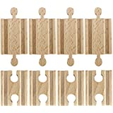 Set of 8 Male-Male Female-Female Wooden Train Track Adapters Fits All Major Brands by Conductor Carl