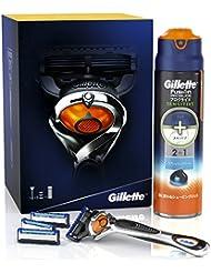 ジレット 髭剃りプログライドギフトセット (マニュアルホルダー+ 替刃3個 + ジェルフォーム リフレッシュクリーン 168g)