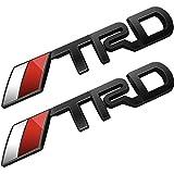 Deselen- LP-BS10AJ - FJクルーザー、スーパーチャージャー、トンドラ、タコマ、4ランナー、ヤリス、カムリ、パック2(ブラック)のトヨタTRD車のエンブレムクロムステッカーデカールバッジラベル