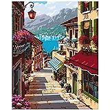 ニヤースさんの店 DIY 数字油絵 塗り絵 キットコレクション 40x50cm 愛の階段
