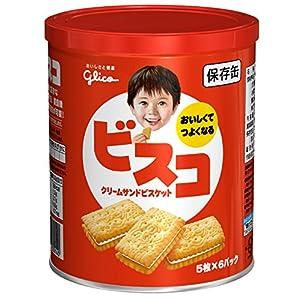 江崎グリコ ビスコ 保存缶 30枚入×5個