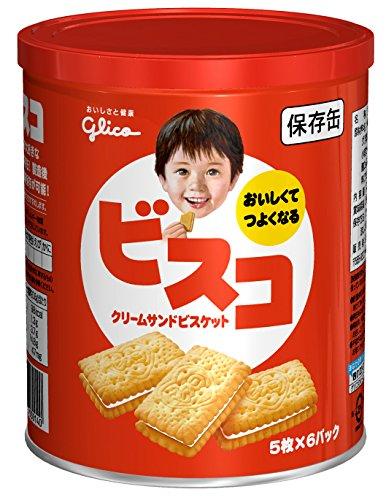 江崎グリコ ビスコ保存缶 30枚
