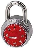 Master Lock 【正規輸入品】 ダイヤル式南京錠 レッド 1504JAD