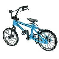 Blesiya コレクション ミニチュア スペアタイヤ付き ダイキャスト フィンガーバイク BMX自転車模型 4色選択 - ブルー