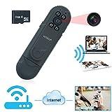 WISEUP 1080P HD 小型ビデオ カメラ 8GBSDカード付き ポータブルミーティングレコーダー wifi ネットワークカメラ 動体検知 カメラ スマホAppリモートビュー