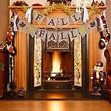 Tatuo 黄麻布バナー 2ピース プリント 葉 麻 ロープ 秋 感謝祭 壁 暖炉 装飾 ホームデコレーション