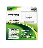 Panasonic 単4形充電式EVOLTA 4本付(スタンダードモデル) 急速充電器セット K-KJ21MLE04