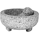 Vasconia 5031764 4-Cup Granite Molcajete Mortar and Pestle