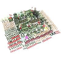 Perfk アーミーフィギュア 兵士モデル アクセサリー 子供玩具 コレクション 全2選択 - 約325個