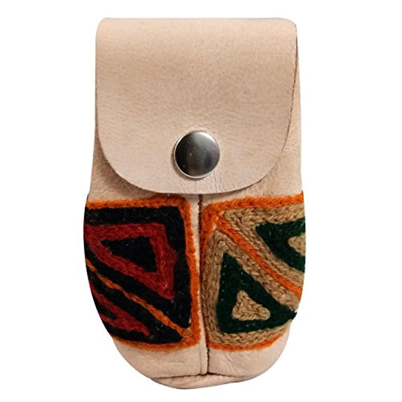 マネーポーチポケット、フラップ&ボタンクローズ、シークレットマネーポーチポケット、お金のための隠しポケットポーチ、手刺繍本物のリアルレザーコインポケットポケット付きマネートラベルオーガナイザー