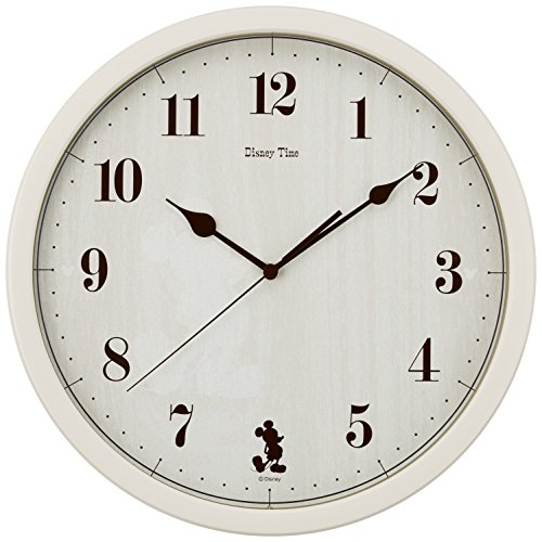 SEIKO CLOCK(セイコークロック) ディズニー ミッキーマウス ディズニータイム クオーツ掛時計(アイボリー塗装) FW577A FW577A