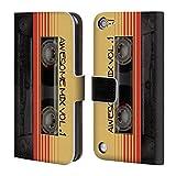 オフィシャル Nicklas Gustafsson Awesome Mix Vol. 1 レトロ・ビンテージ レザー手帳型ウォレットタイプケース iPod Touch 5th Gen / 6th Gen