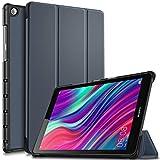 Msova MediaPad M5 Lite Touch タブレット HUAWEI 8.0インチ 保護ケース 三つ折り スタンド機能付き マグレット開閉式 着脱可能 強力な磁石 傷つけ防止 超軽量 極薄 実用型 全面保護型 三段角度調節 ネービー
