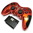 PS2/PS3/PC 連射機能付きワイヤレスコントローラー(レッド)