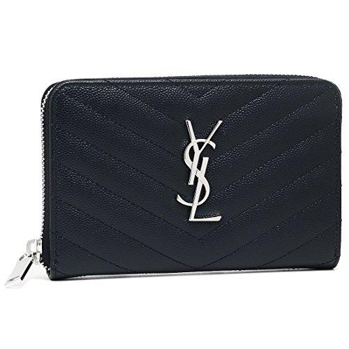 [サンローラン] 財布 レディース SAINT LAURENT PARIS 481407 BOW02 4147 ネイビー [並行輸入品]