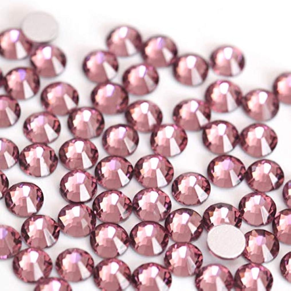 【ラインストーン77】 超高級 ガラス製ラインストーン SS4~SS20 ライトアメジスト スワロフスキー同等 (3.0mm (SS12) 約200粒)
