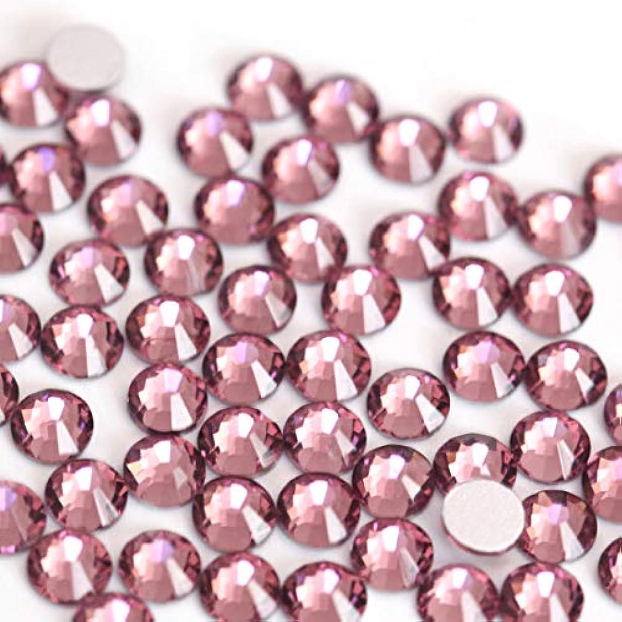 不利益自分円形【ラインストーン77】高品質ガラス製ラインストーン ライトアメジスト(2.2mm (SS8) 約200粒)