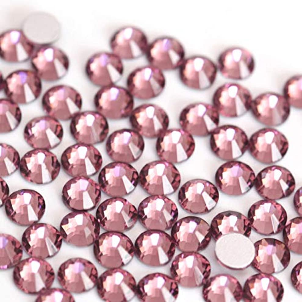 州タヒチ決めます【ラインストーン77】高品質ガラス製ラインストーン ライトアメジスト(2.2mm (SS8) 約200粒)