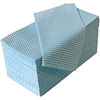 ストリックスデザイン カウンタークロス ブルー 約30㎝×61㎝ 使い切りの 不織布 ふきん 100枚入 J-116