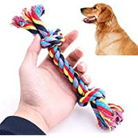 ペットおもちゃby vibola噛むおもちゃノットFun Tough Strong子犬犬ペットTug War Play綿ロープ L Vibola®25