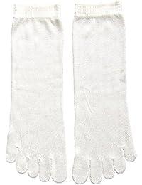 くらしきぬの冷えとり靴下【日本製/絹(シルク)100% 5本指ソックス/ショートタイプ】
