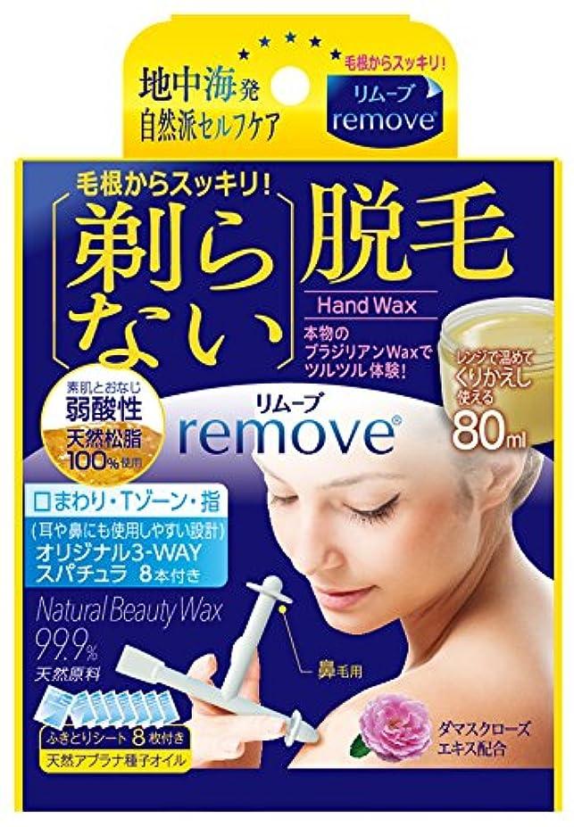 環境に優しい新しい意味スキッパーリムーブ 剃らない脱毛 ハンドワックス 80ml