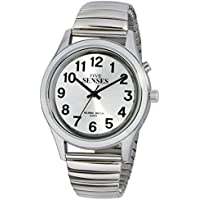 TimeChant 2nd Generation Talking Watch - Silver-Tone Alarm Day-Date Men Watch 1152