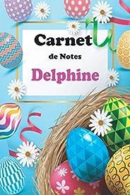 Carnet de Notes Delphine: Idée carnet de notes original avec prénom personnalisé Delphine, cadeau d'annive