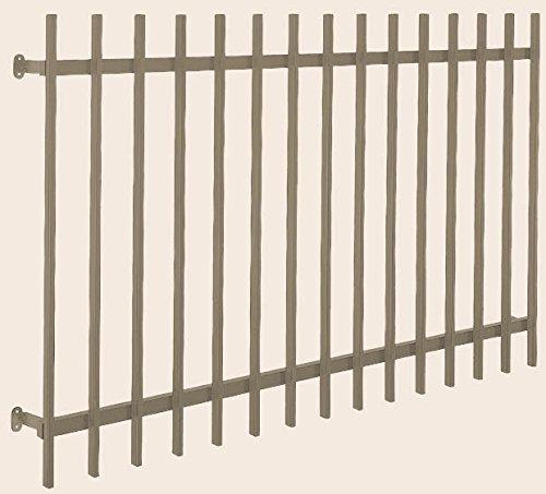 リクシル アルミ面格子 A型 204 呼称16009 W 1820 mm × H 1020 mm 木造用 標準ブラケット付き 製品色:シャイングレー(K)