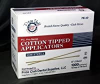 Value-Pack 2,000 x 6 (Inches) Cotton-Tipped Applicator / Cotton swab / Q-Tips by Price Club Dental Supplies