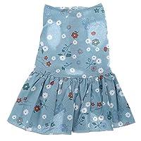 FidgetGear ペットの服子犬ドレススカートコットンスーツアパレルテディ犬 ドレス 1#グリーンフローラル