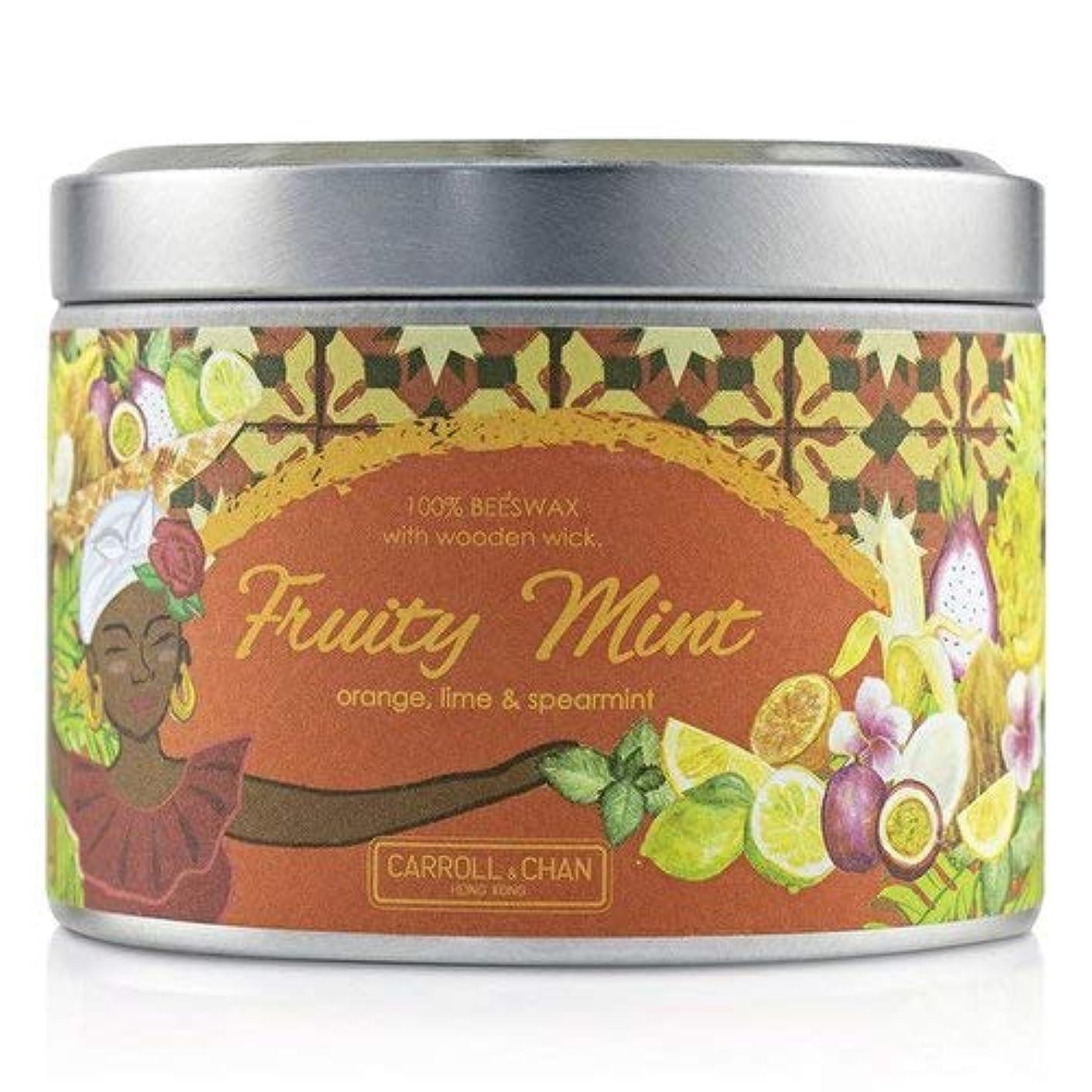 動揺させる夜明け先駆者キャンドル?カンパニー Tin Can 100% Beeswax Candle with Wooden Wick - Fruity Mint (8x5) cm並行輸入品