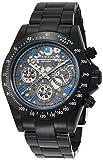 [ブルッキアーナ]BROOKIANA クロノグラフ オールブラックメタル×ブルーインデックス ギミックフェイス BA2305-BNMBK メンズ 腕時計