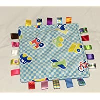 Comforting Blue Generic Baby Blanket with satin tags [並行輸入品]