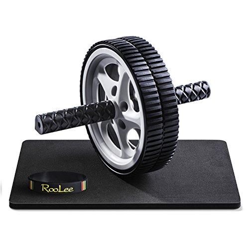 RooLee アブホイール 腹筋ローラー エクササイズウィル エクササイズローラー スリムトレーナー 静音 取り付け簡単 膝を保護するマット付き