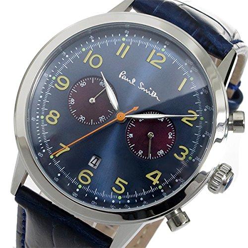 ポールスミス PAUL SMITH クロノ クオーツ メンズ 腕時計 P10012 ブルー [並行輸入品]