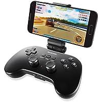 エレコム ゲームパッド ゲームコントローラー ブルートゥース VR/AR対応 アンドロイド 12ボタンPS系ボタン配列 スマホホルダー付 ブラック JC-VRP01BK