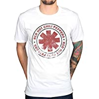 AWDIP Men's Official Red Hot Chili Peppers Distressed T-Shirt Vintage RHCP Rock Group Punk Hippie