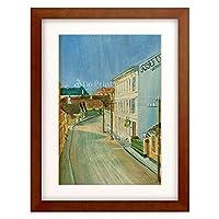 エゴン・シーレ Egon Schiele 「Die Albrechtstrasse, 1906.」 額装アート作品