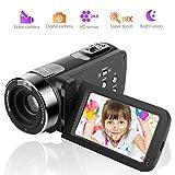 ビデオカメラ カムコーダー フルHD 1080p デジタルカメラ 24.0MP 18x 倍デジタルズーム3.0インチ LCD 270° 回転スクリーン リモコン付き