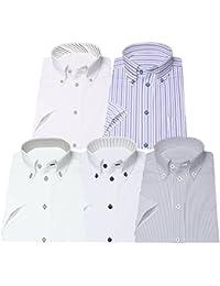 [アトリエサンロクゴ] ワイシャツセット 半袖 ワイシャツ 5枚セット 形態安定 クールビズ メンズ